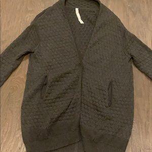 Lulu Lemon XS/S Dark grey sweater blazer/jacket